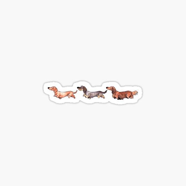 Teckels - Horizontal Sticker