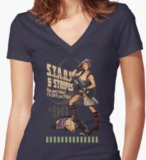 Valentine Bombshell Women's Fitted V-Neck T-Shirt
