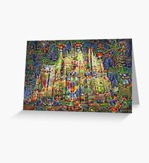 DeepDream Pictures, Cathedral 001 Greeting Card