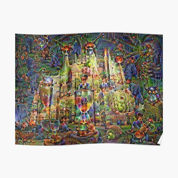 DeepDream Pictures, Cathedral 001 Poster