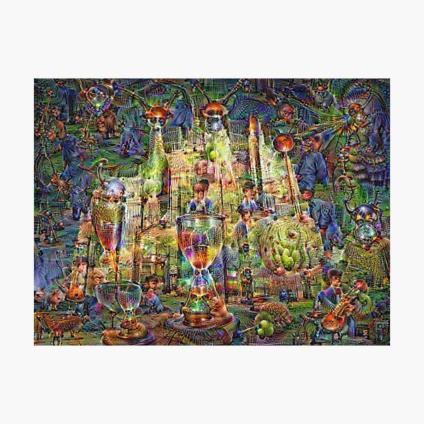 DeepDream Pictures, Cathedral 001 Photographic Print