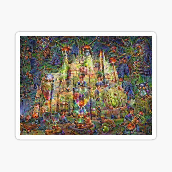 DeepDream Pictures, Cathedral 001 Sticker