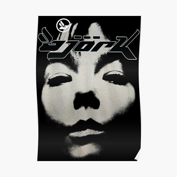 Bjork Homogenic Vintage Face Logo (Black / White) Poster
