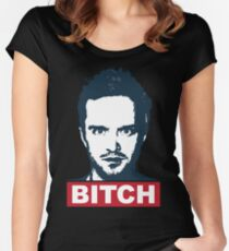 BREAKING BAD JESSE PINKMAN BITCH Women's Fitted Scoop T-Shirt