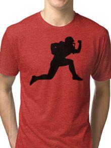 Classic American Football Pattern Tri-blend T-Shirt