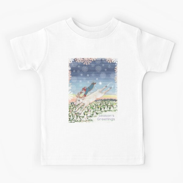 Magical Christmas Eve Snow Kids T-Shirt
