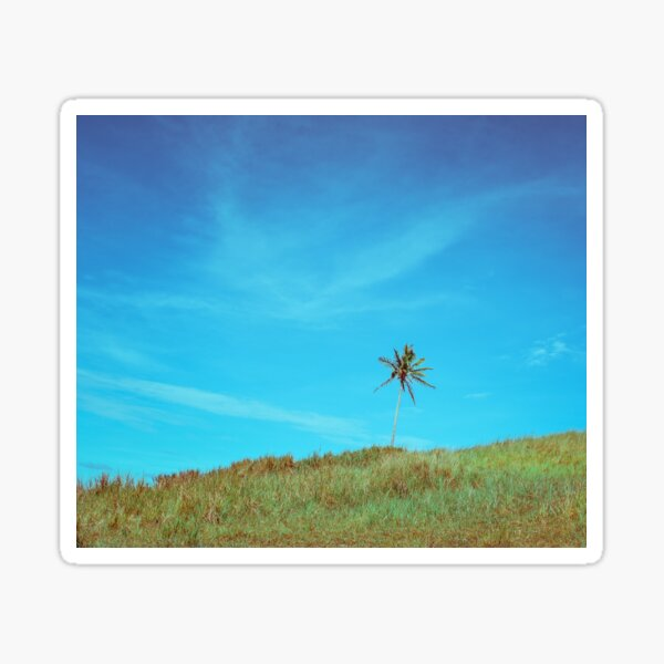 Turquoise Crystal Blue Sky Coconut Hill Vacation Sticker