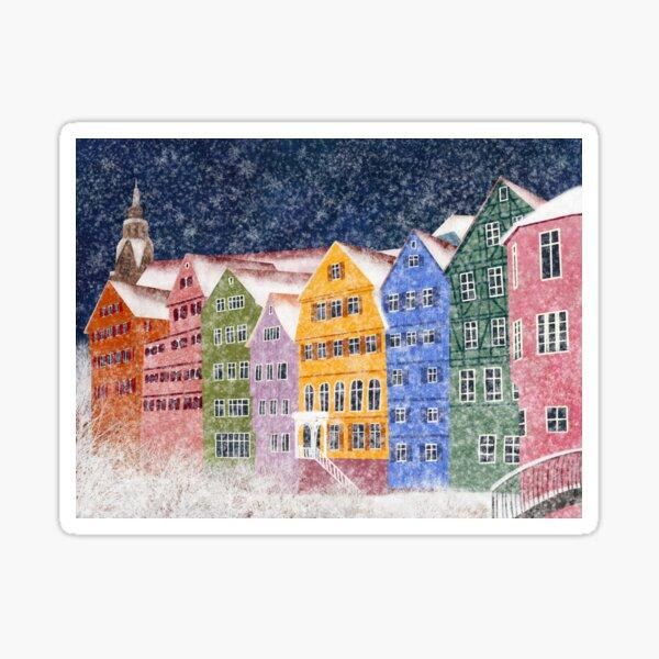 Tübingen in winter Sticker