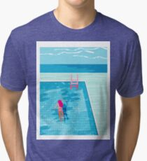 In Deep - abstract memphis throwback 1980s style retro neon palm springs simmer resort country club poolside vacation Tri-blend T-Shirt