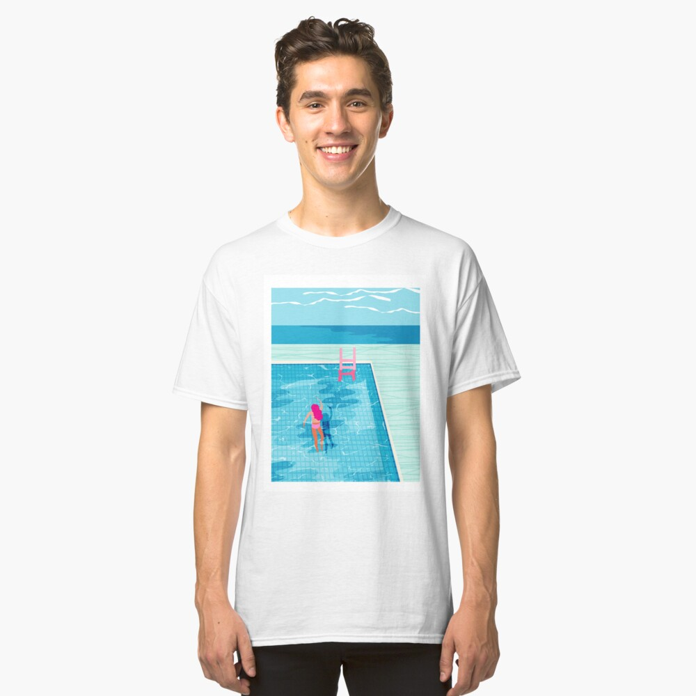 In Deep - abstract memphis throwback 1980s style retro neon palm springs simmer resort country club poolside vacation Classic T-Shirt