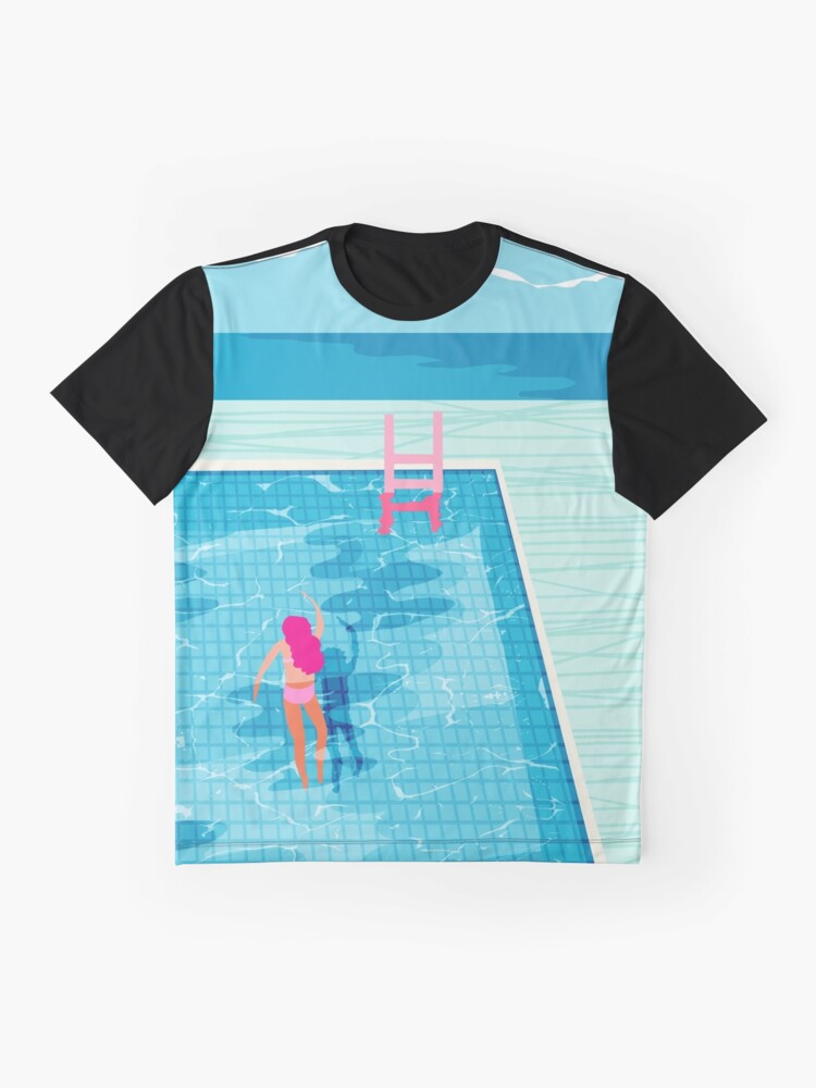 Alternate view of In Deep - abstract memphis throwback 1980s style retro neon palm springs simmer resort country club poolside vacation Graphic T-Shirt