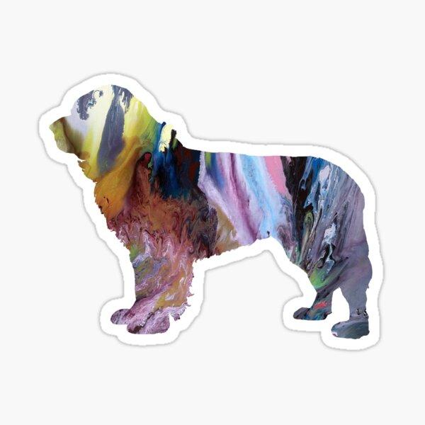 newfoundland dog art  Sticker