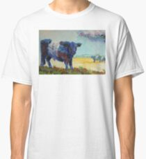 Belted galloway cow Dartmoor landscape painting Classic T-Shirt
