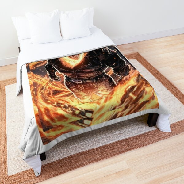 Ghost Rider Burning Theme Art Comforter