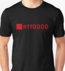 Colour Red #ff0000 T-Shirt