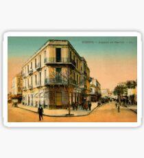 Vintage 1900s Bizerte Tunisia, Avenue de France Sticker