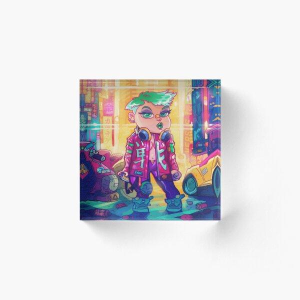 Cyberpunk 01101000 Acrylic Block