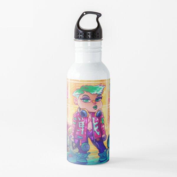 Cyberpunk 01101000 Water Bottle
