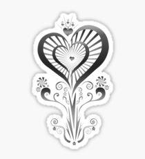 Heart Flower - Silver Sticker