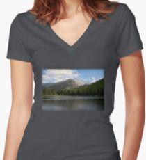 Bear Lake Beauty  Women's Fitted V-Neck T-Shirt