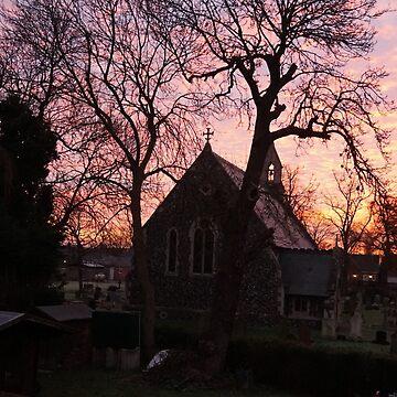 Silhouette Church Sunrise  by cElsiePics