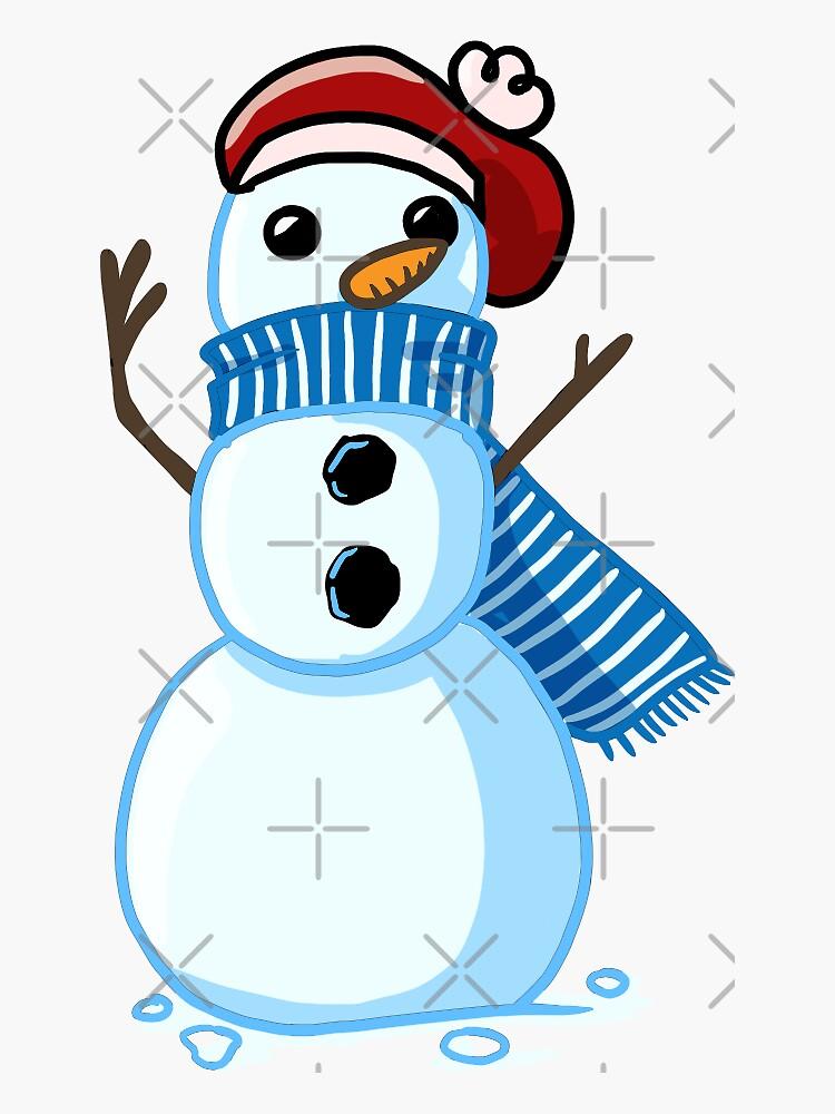 Winter Snowman by MaeganCook