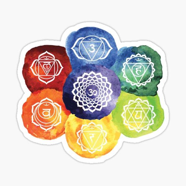The 7 Chakras Flower Design Sticker