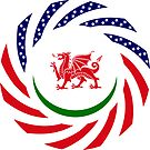 Welsh American Multinational Patriot Flag Series by Carbon-Fibre Media