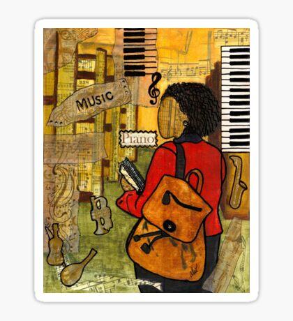 Urban Music Student Sticker