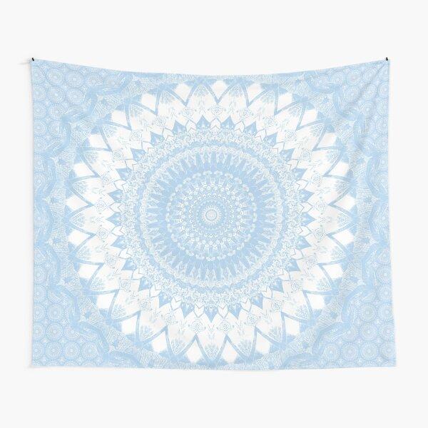 Baby Blue Boho Mandala Tapestry