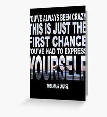 Thelma and louise greeting cards redbubble thelma louise greeting card bookmarktalkfo Images