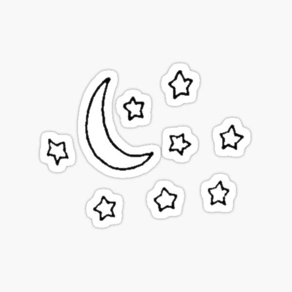Sterne und Mond Sticker