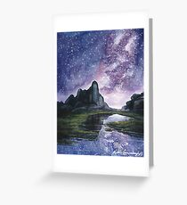 Skyscape - Purple Star Filled Night Greeting Card