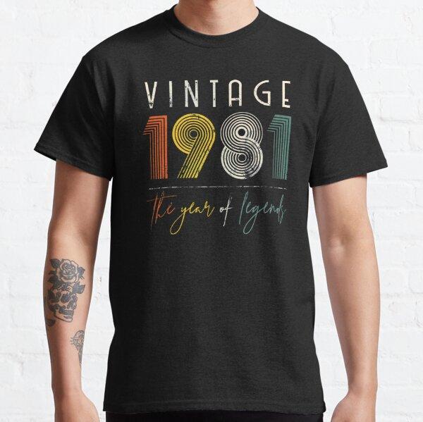 Vintage Retro 1981 40 años 40 cumpleaños regalo hombres mujeres Camiseta clásica