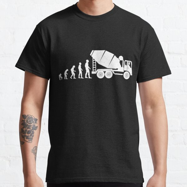 Concrete mixer & concrete mixer driver evolution profession - gentlemen Classic T-Shirt