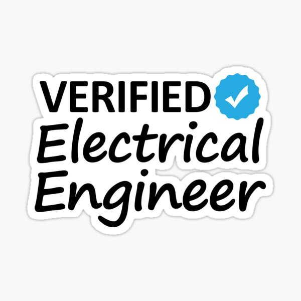 Engineer Hhh verified Electrical Engineering Sticker