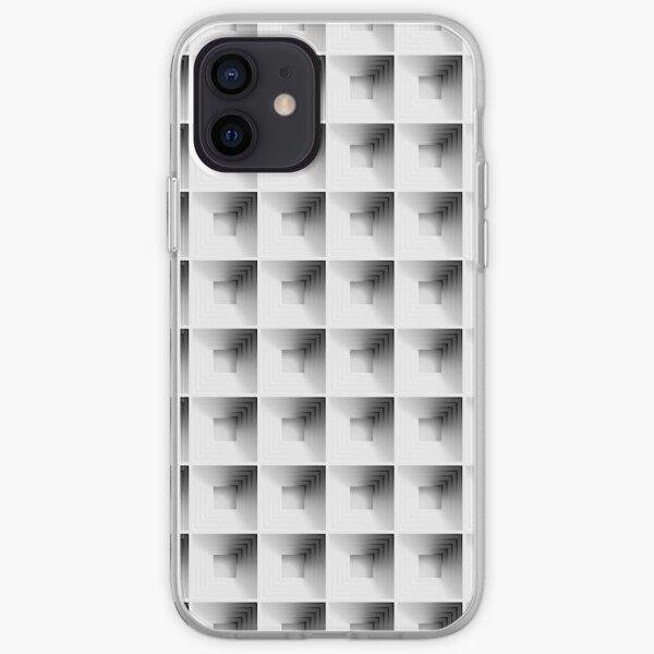 Kassettenmuster in Grau iPhone Flexible Hülle