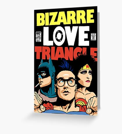 Butcher Billy's Bizarre Love Triangle: The Post-Punk Edition Greeting Card