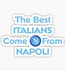 Pegatina Los mejores italianos vienen de Napoli 2