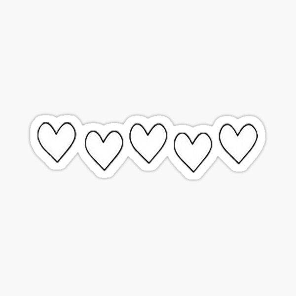 Coeurs d'amour Sticker