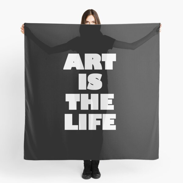 Art is The Life - White Logo Scarf