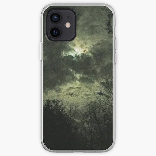 Olde Time-y Moonlit Clouds iPhone Soft Case