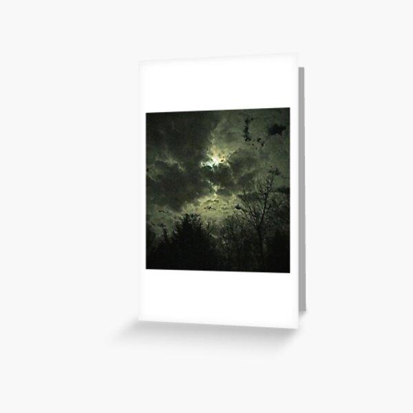 Olde Time-y Moonlit Clouds Greeting Card