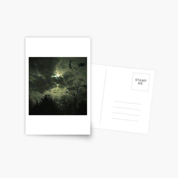 Olde Time-y Moonlit Clouds Postcard