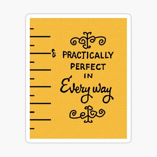 pratiquement parfait Sticker