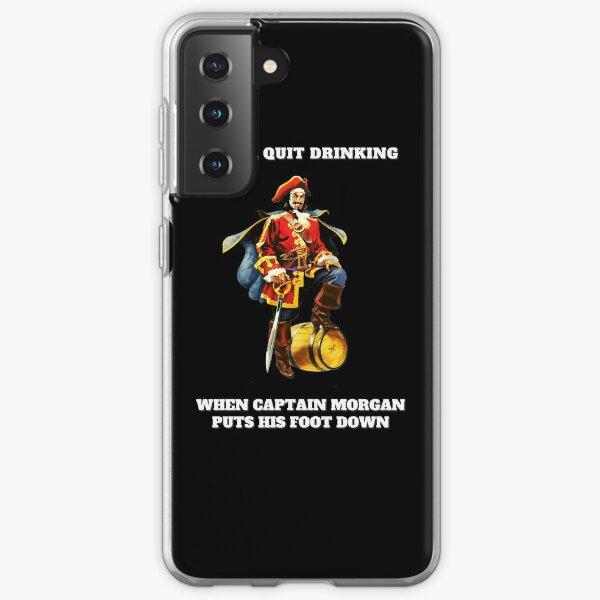 Captain Morgan j'arrêterai de boire Coque souple Samsung Galaxy