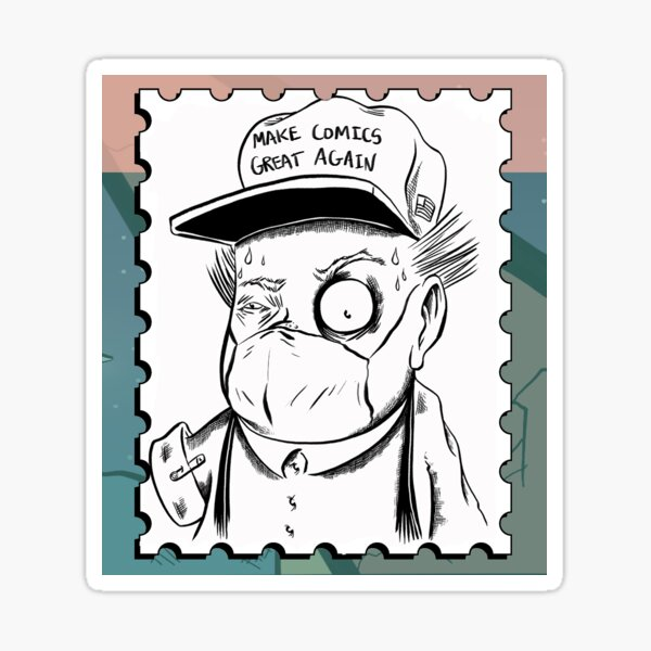 From the HBPSG; Character Randy (Make Comics Great Again) Sticker