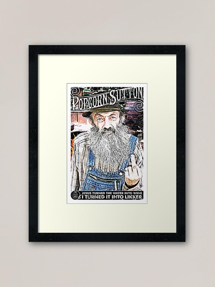 Alternate view of Moonshine Popcorn Sutton  Framed Art Print