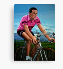 Fausto Coppi Painting Canvas Print