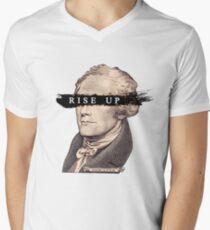 AUFGEHEN! T-Shirt mit V-Ausschnitt für Männer